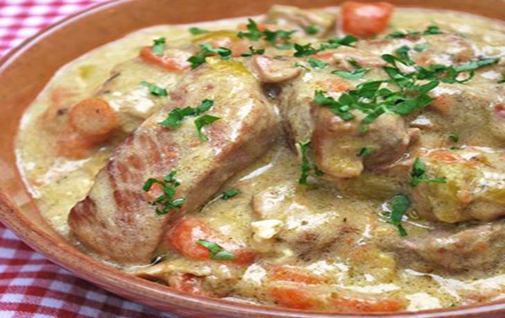 Blanquette de porc au vin blanc et aux fines herbes