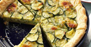 Tarte au camembert et aux courgettes