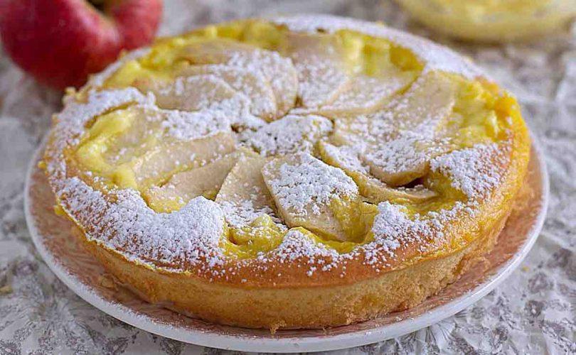 Gâteau moelleux aux pommes et à la crème