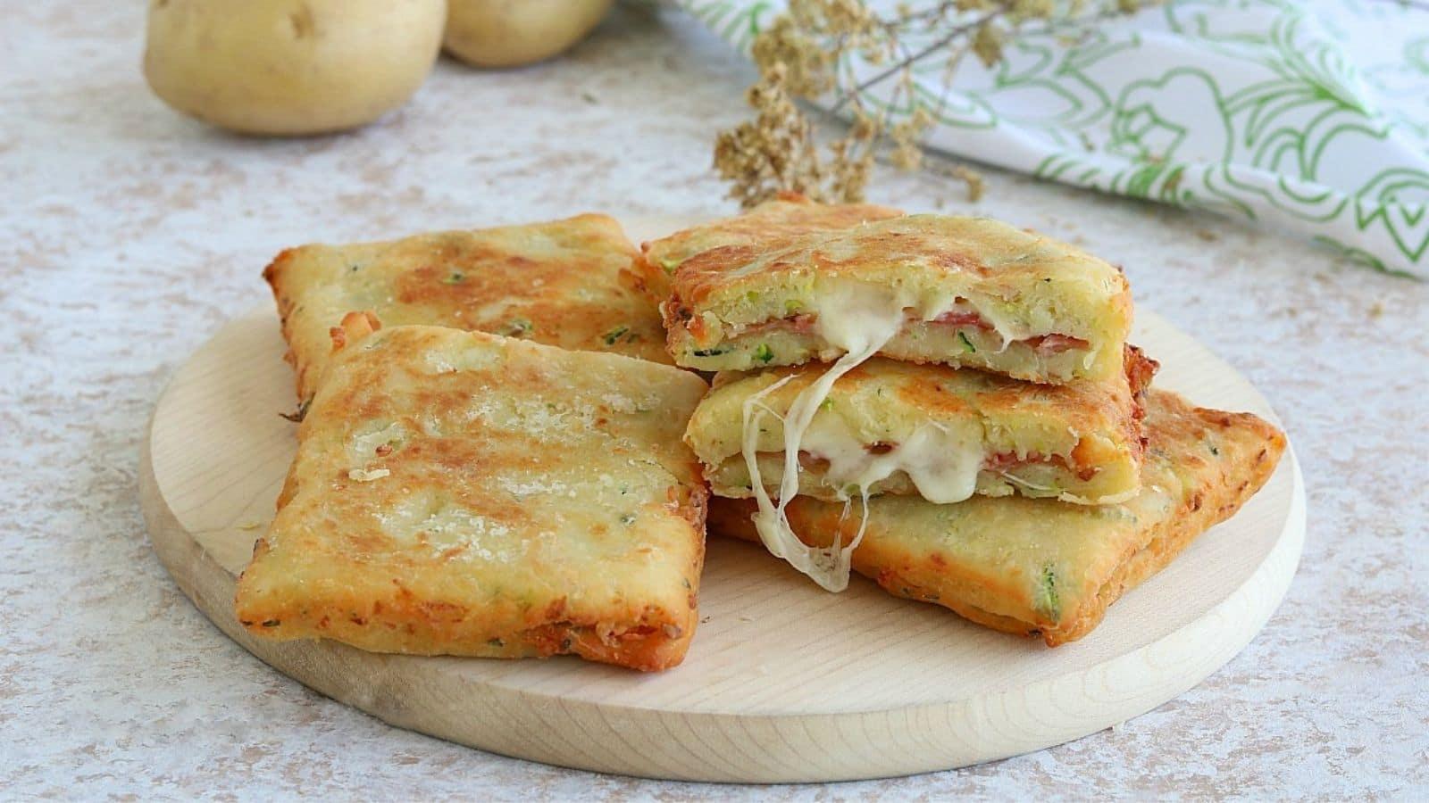 Croque-monsieur de courgettes et pommes de terre