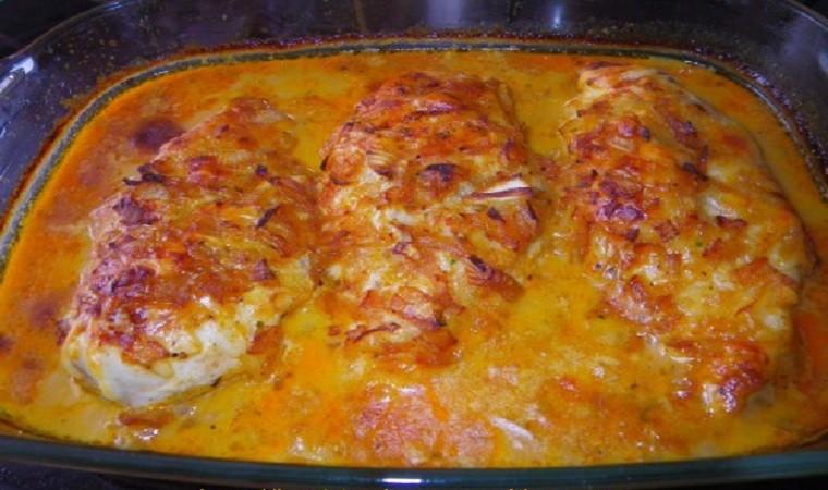 Escalope de poulet gratinée au four
