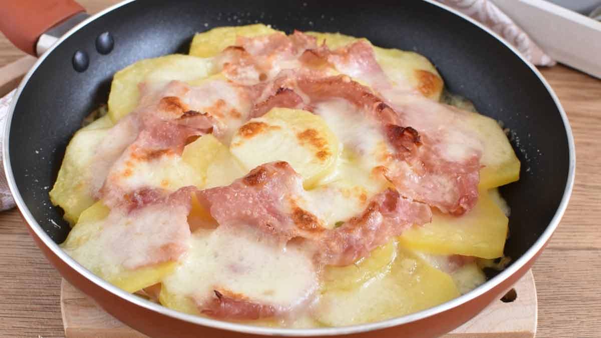 Pommes de terre au parmesan et au jambon