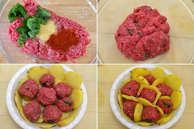 Tourte aux boulettes de viande