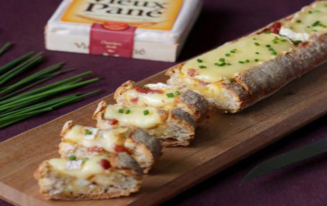 Baguette apéritive au fromage facile à préparer