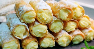 Cigares à la crème pâtissière, sans sucre, sans lait, sans gluten