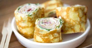 Crêpes au jambon et fromage frais recette apéro