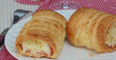 Roulé jambon fromage à la sauce béchamel