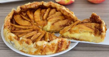 Tarte aux pommes flambée recette facile