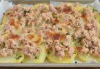Tranches de pommes de terre au thon