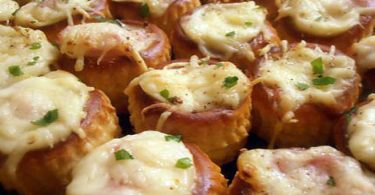 Minis bouchees chaudes au jambon (apéro en famille)