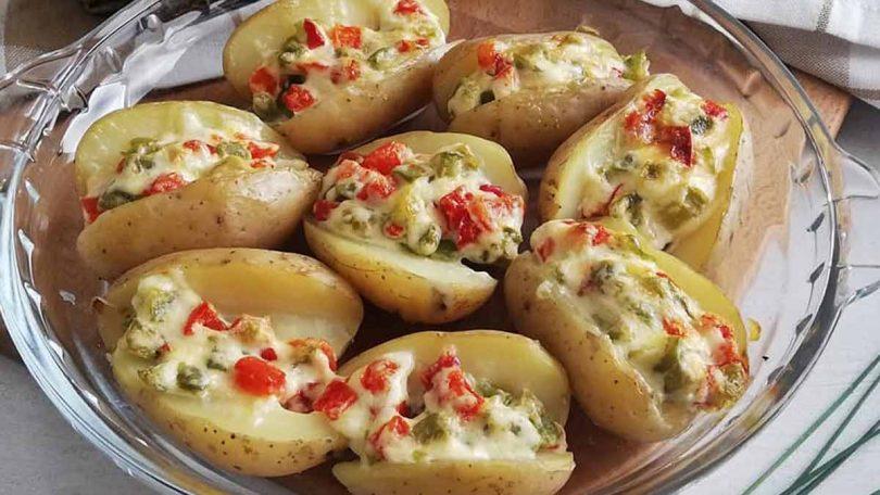 Recette pommes de terre farcies de salade