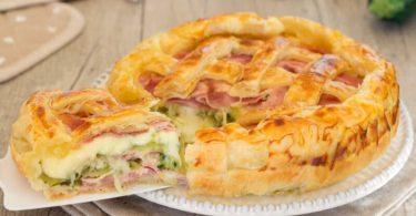Recette tarte salée aux courgettes jambon et mozzarella