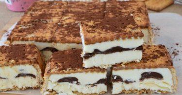 Tiramisu aux biscuits et Nutella sans sorbetière