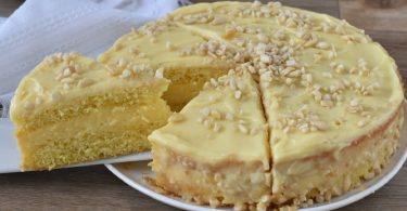 Gâteau italien aux pignons (Torta della nonna)