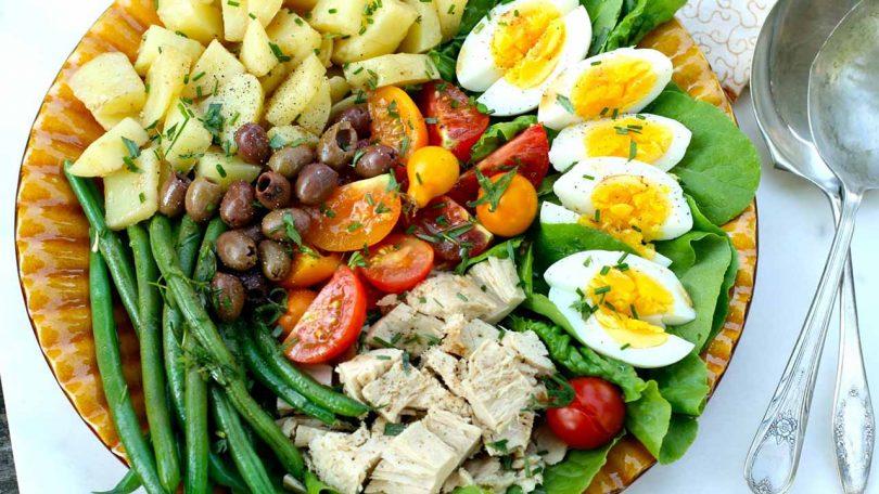 Salade au thon sans gluten, recette française