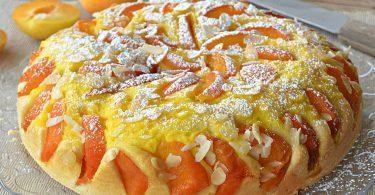 Gâteau d'abricot et crème pâtissière