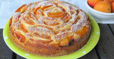 Gâteau moelleux aux abricots sans beurre