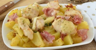 Poulet et pommes de terre au four recette facile
