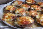 Champignons farcis au jambon et aux fromages