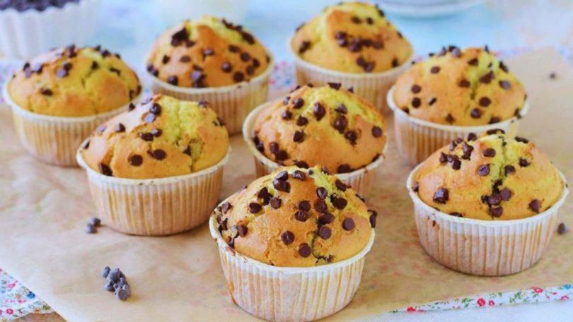 Muffins aux pépites de chocolat et sans beurre