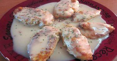Poulet frit a la sauce citron / gingembre