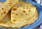 Recette de crêpes salées, recette de base