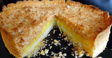 Tarte citron et crumble coco