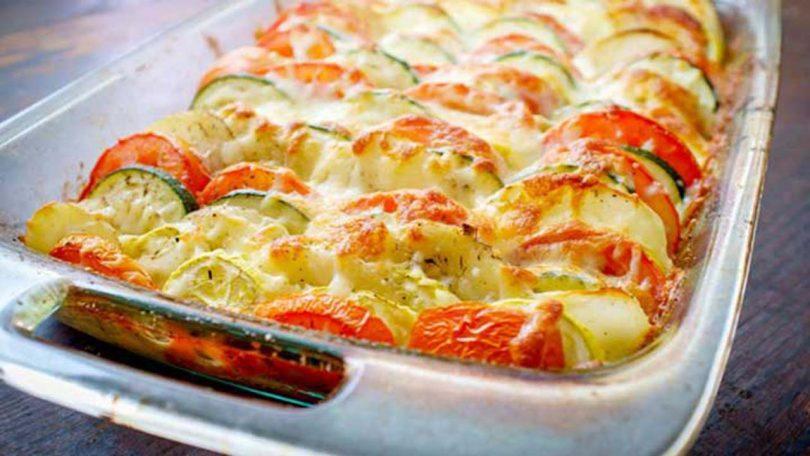 Tian de legumes au fromage