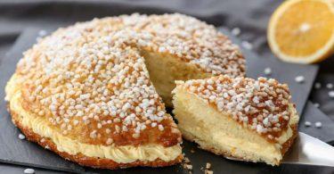 Gâteau Saint Tropez léger, frais et en bouffée s'envole